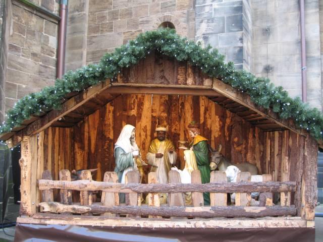 Bremen Christmas market nativity