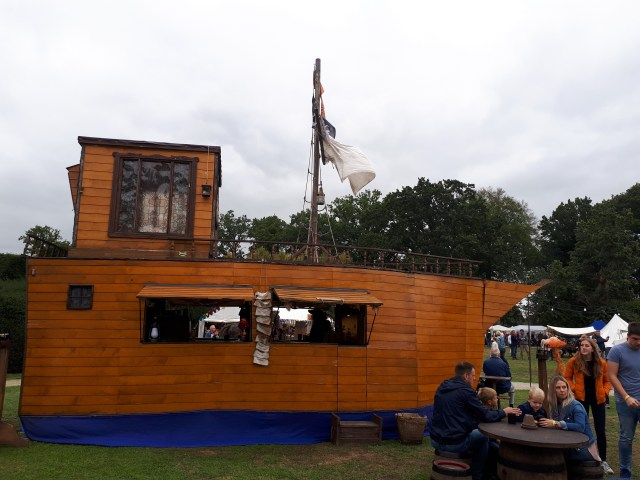 Steamfest boat bar