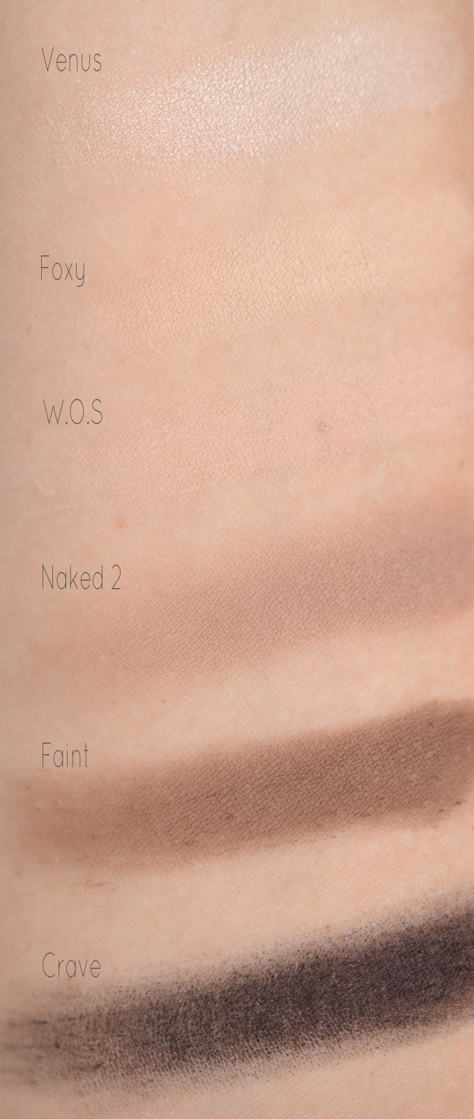 Urban Decay Naked Basics Swatches