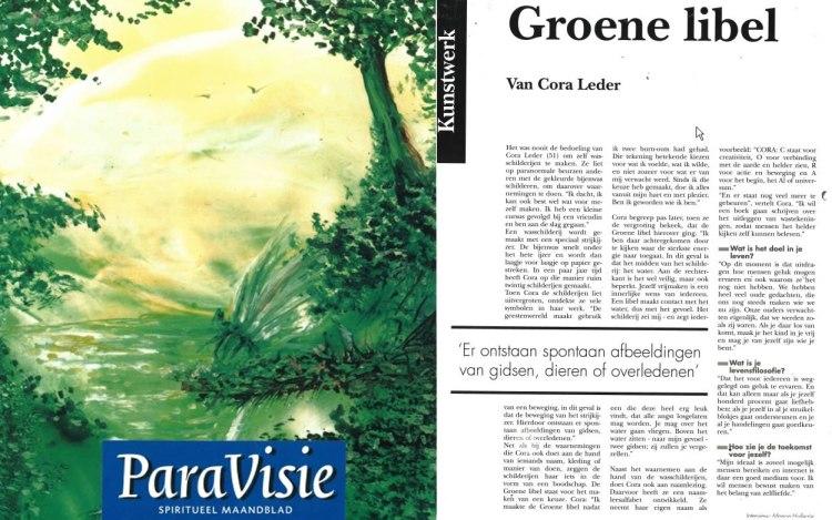 ParaVisie Groene Libel van Cora Leder