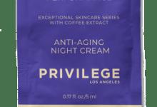 Photo of Privilege Крем для лица и шеи омолаживающий ночной с экстрактом кофе