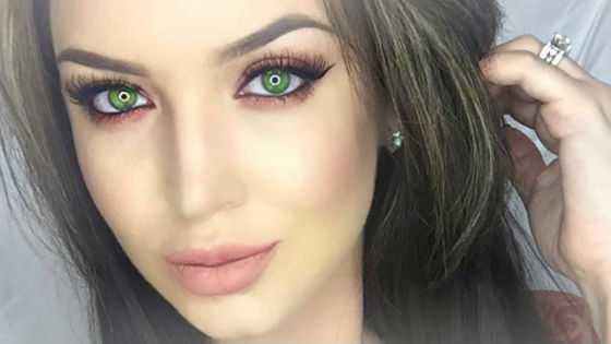 Мейк для зеленоглазых девушек с темными волосами