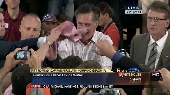 Broward Candidate Gives Mitt Romney the Pink Slip Live on C-SPAN