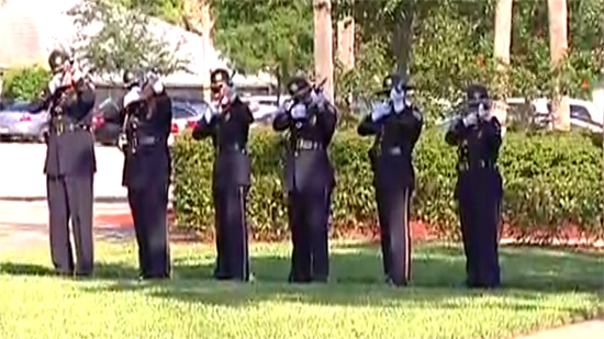 Memorial Day Ceremony in Coral Springs Veterans park on Monday