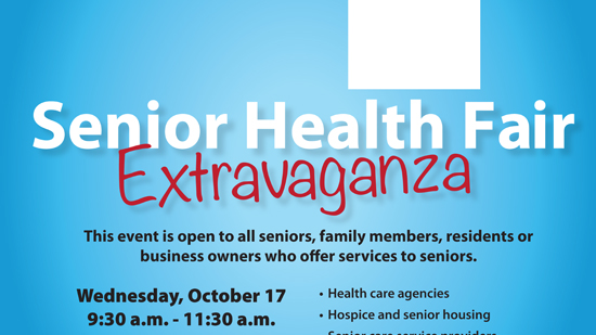 Senior Health Fair Extravaganza in Coral Springs on October 17