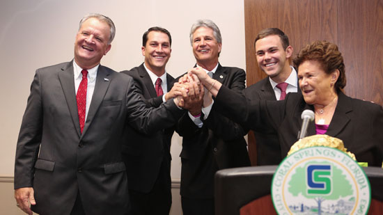 Coral Springs Mayor and Commissioners Sworn in at Ceremony