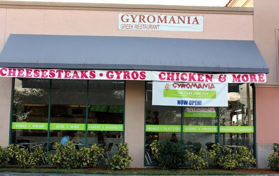 "New Restaurant in Coral Springs: Gyromania Grill ""Real Fresh Greek Food"""