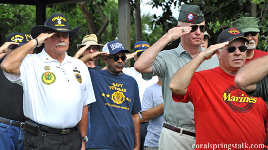 Memorial Day Ceremony in Coral Springs on May 27