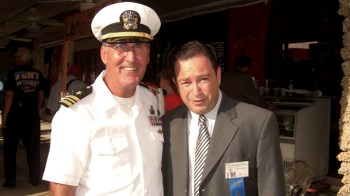 David Thomas on 911 Remembrance Day with State Senator Jeramy Ring. Thomas retired from the Navy in 1992 as a Lieutenant Commander.