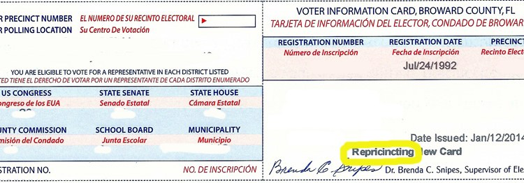 Resident Finds Typo in New Voter Cards