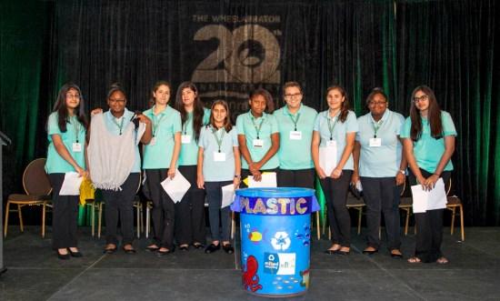 Left to right: Zainab Munawwar, Diamond Blackwell, Regina Zavadzkas, Cindy Benavides, Leslie  Rodriguez, Carolhane Perjuste, Mackenzie Draper, Siried Vizuete, Jewel Blackwell, Maleeha  Haroon