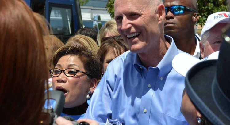 PHOTOS: Gov Rick Scott Makes Campaign Stop in Coral Springs