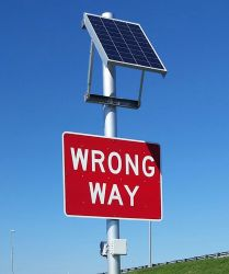 New signs that light up and notify FHP if someone is approaching the exit ramps the wrong way.
