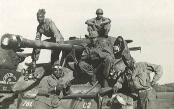 The 761 tank battalion made up of African American men helped liberate the Dachau concentration camp