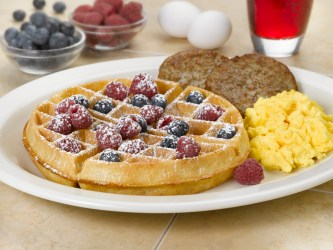 Patriot Waffle Combination - now this is the breakfast of champions!