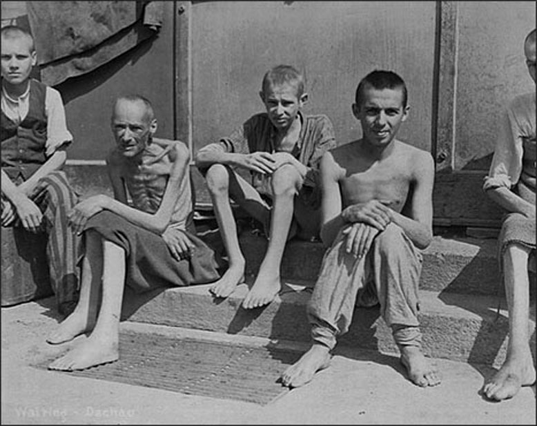 Survivors of Dachau concentration camp