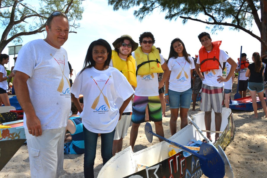 Students from Marjory Stoneman Douglas participate in the MIASF Plywood Regatta