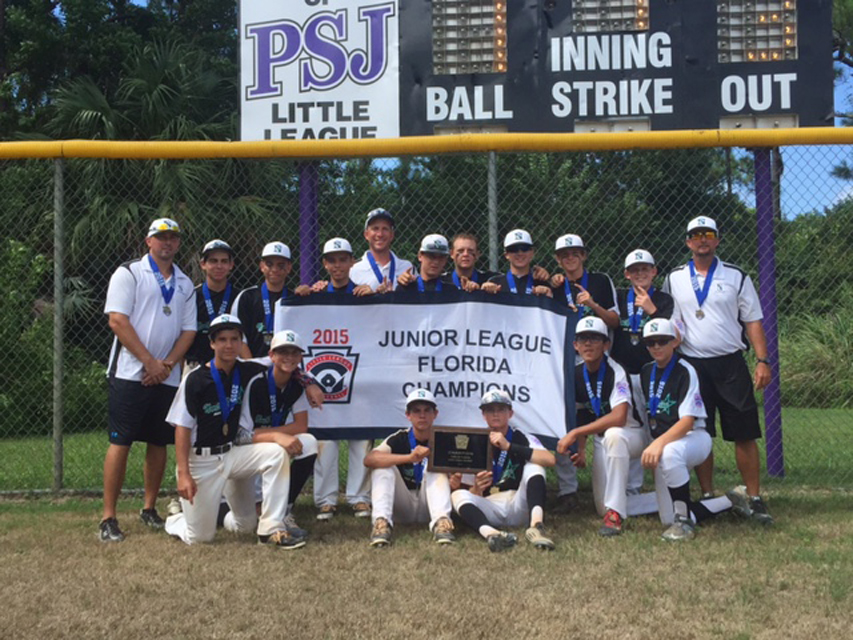 North Springs Little League 13 and 14. Coaches are Todd Fitz-Gerald, Ian Nagle, and Brian Makovsky