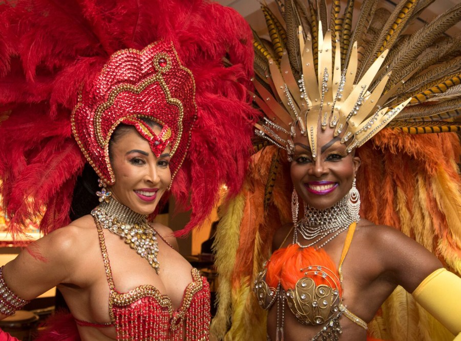 "Rio Carnival Showgirls at Coral Springs Museum of Art's ""Blame it on Rio"" event. Photos by Adam Baron"