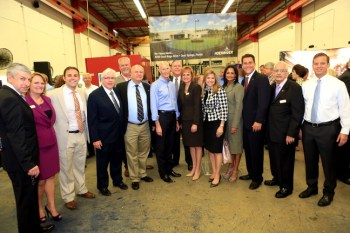 Governor Rick Scott Tours the Pompano facility with Coral Springs staff and commission