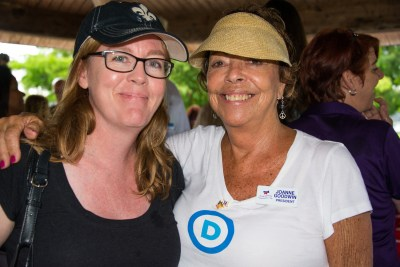 Acting Chair Broward Democratic Party Cynthia Busch with North Broward Democratic Club President Joanne Goodwin