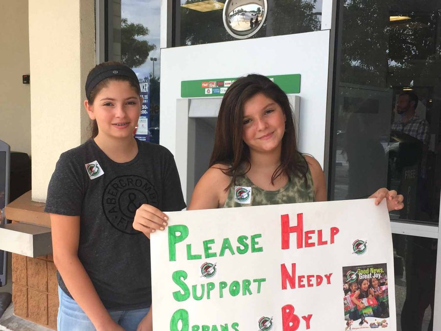 Sisters Angelina, and Gianna ,11 in front of Publix at Sawgrass Center in Coral Springs