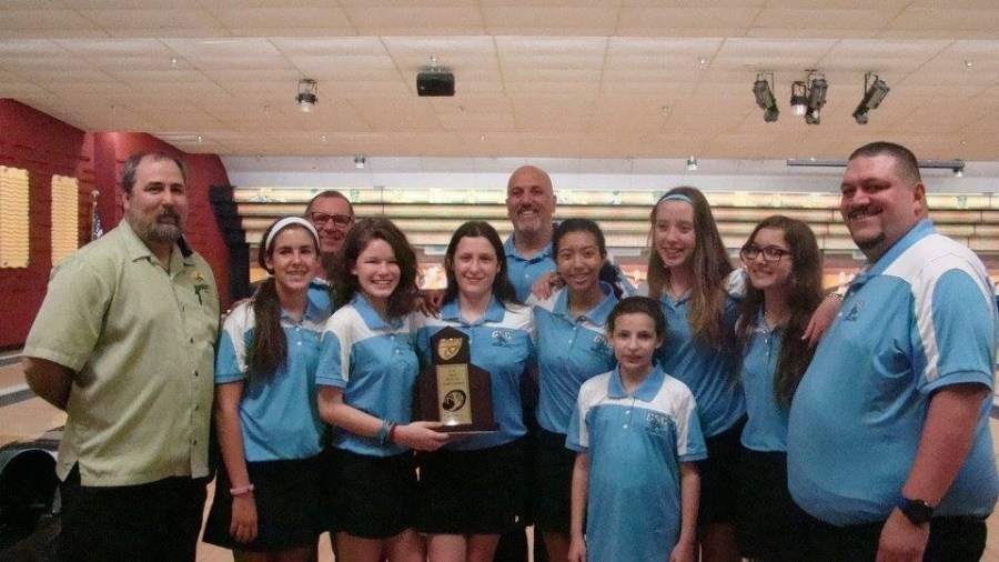 Coral Springs Charter School girls bowling team