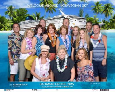 Fourteen neighbors in Oakwood just took an adults only three-night cruise aboard the NCL Sky last August.