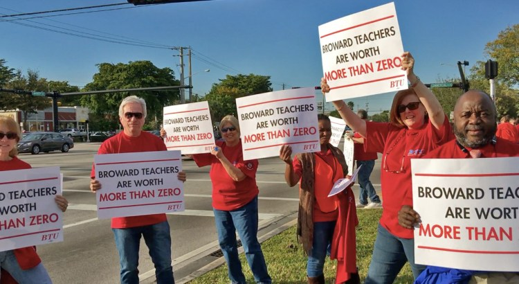 Teachers Hold Rally Over Stalled Salary Negotiations