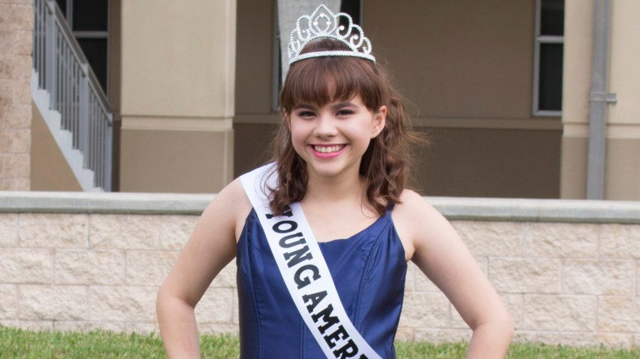 """Maria Lañas plays Joanne Marshall, the previous year's Young American Miss winner in Coral Glades Productions of """"Smile.""""  Photo by Samantha Gaynor"""