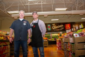 President Steve Back and Jason Falcone, Store Director at the new Lucky's Market in Coral Springs.