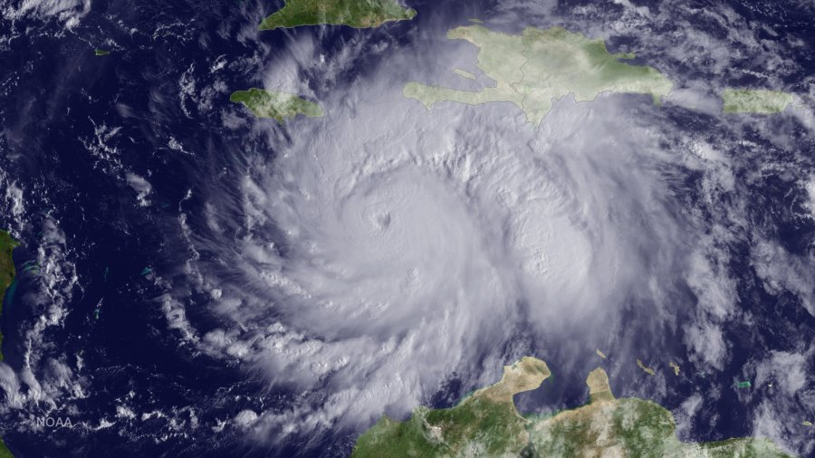 Hurricane Matthew in the Caribbean Sea from the National Weather Service