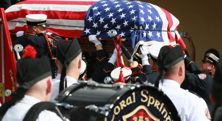 """Service Held for Coral Springs Firefighter Paul """"Pauly"""" Pietrafesa"""