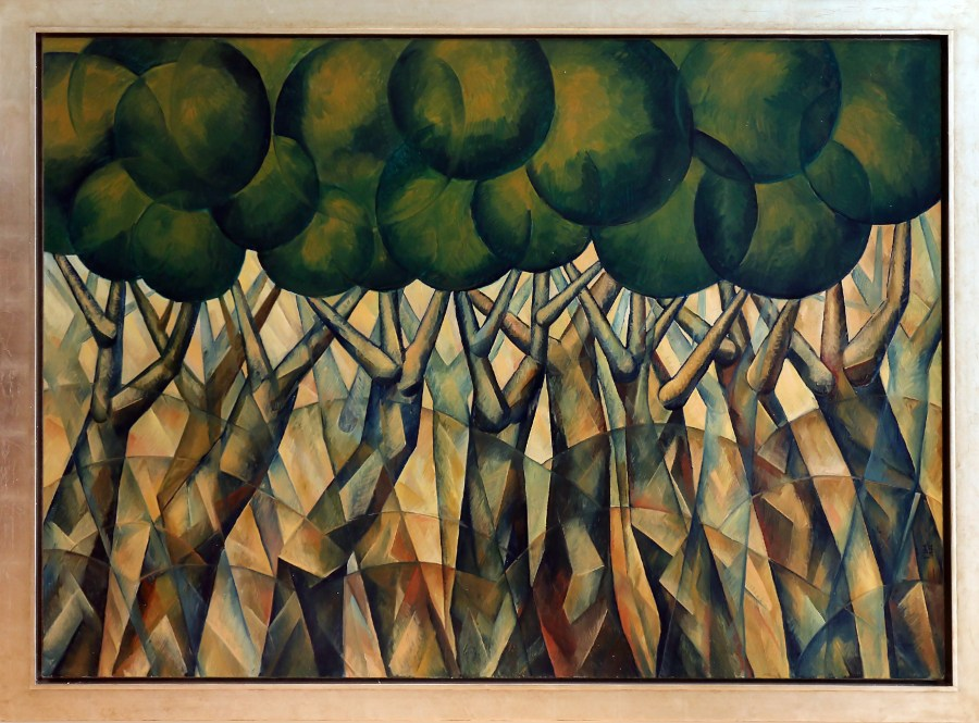 Yuroz' donated his piece, Dancing Trees to the Coral Springs Museum of Art.