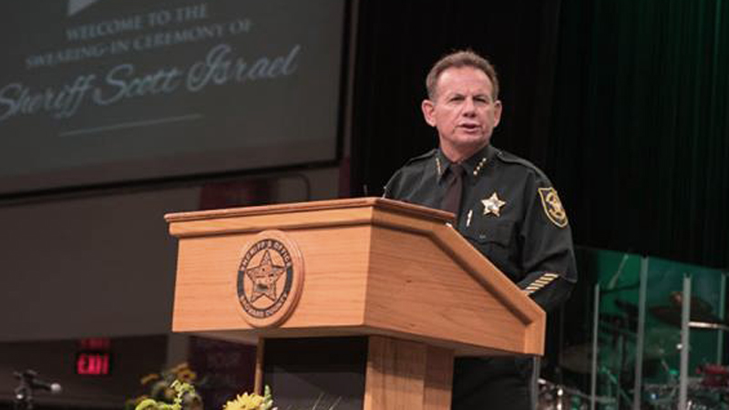 Sheriff Scott Israel at his swearing-in ceremony in January. Photo courtesy BSO.
