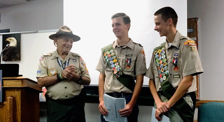 Local Troop Honors Two Men Earning Eagle Scout Rank