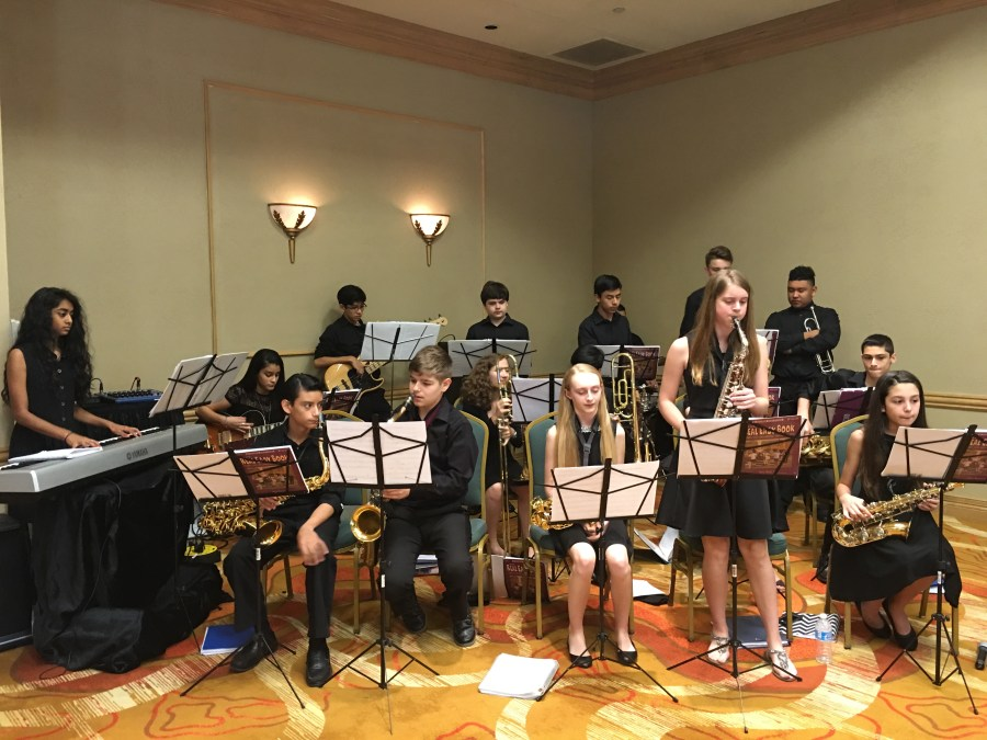 Coral Springs Middle School Jazz Band performing in 2016.