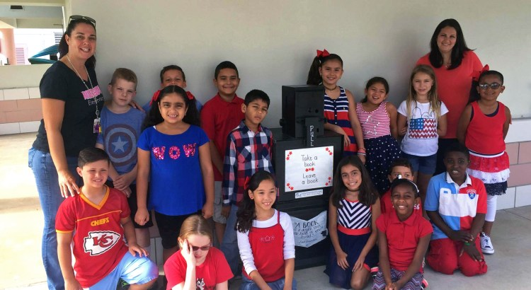 Take a book, leave a book; Riverside Elementary Opens Little Free Library
