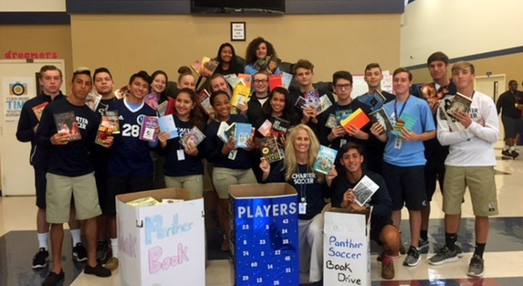 Coral Springs Charter School Soccer Teams Hold Book Drive