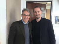 Joseph Fiennes and Eric Metaxas