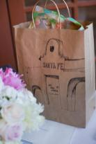 Wedding Gift Bag with Santa Fe design