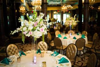 Private Dinner Reception Ballroom and Centerpiece