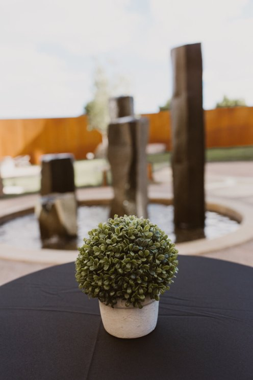 Hotel Chaco Table Diaplay and Fountain