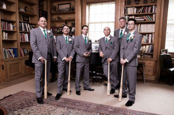The Groomsmen are Batting for the Groom