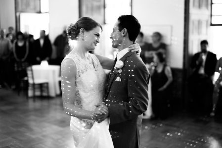 The Bride and Groom Share Their First Dance as Man and Wife