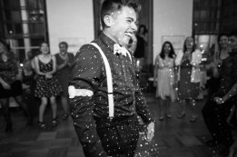 He Was All Smile after Catching the Garter