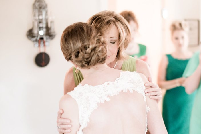 A Loving Embrace Between Mother and Daughter Before the Ceremony