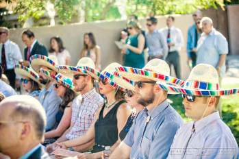 Festive Guests Celebrate in Sombreros