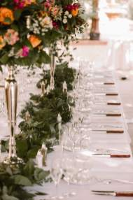 Centerpieces and Greenery Create a Romantic Table Setting