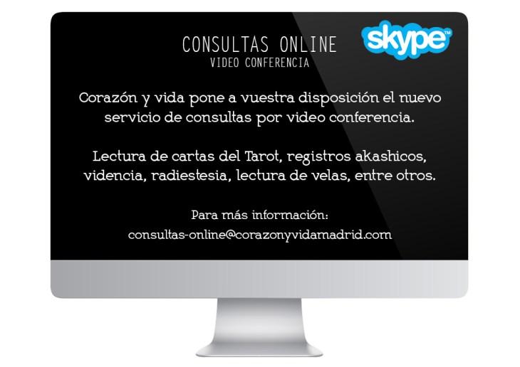 Consultas por videoconferencia - Tarot, registros akashicos - Madrid - Guadalajara - Tfno.: 675 829 401 (sóloWhatsApp) - info@corazonyvidamadrid.com
